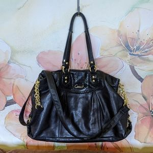 Coach Ashley purse leather carryall G1261 F19243